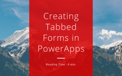 Tutorial – Creating Tabbed Forms in PowerApps